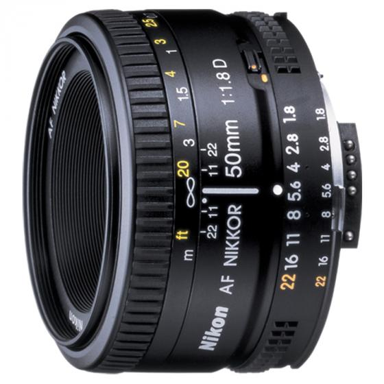 Nikon AF FX 50mm f/1.8D Lens with Auto Focus