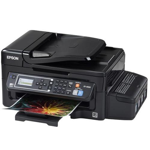 Epson ET-4500 EcoTank Wireless Color All-in-One Supertank Printer with Scanner, Copier, Fax, Ethernet, Wi-Fi, Wi-Fi Direct