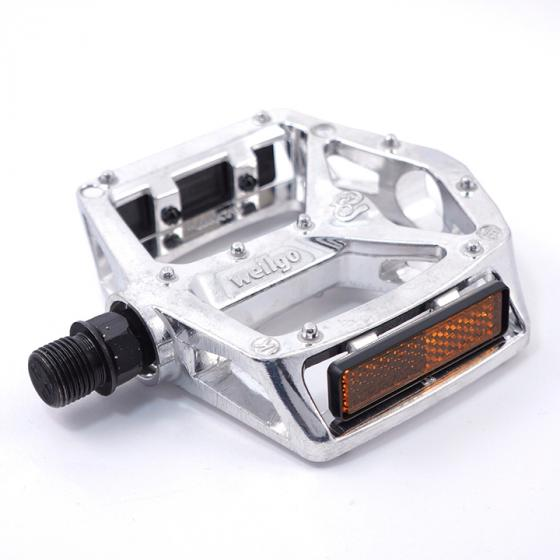 """Wellgo MG-3 9//16/"""" Magnesium Pedal for MTB and Road Bike Silver"""