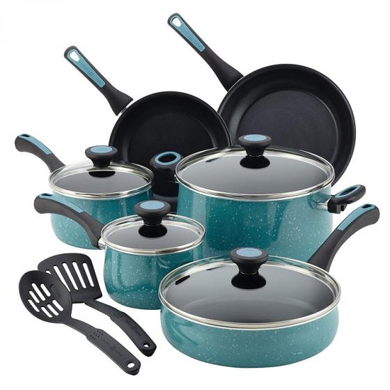 Paula Deen Riverbend 16981 Aluminum Nonstick Cookware Set