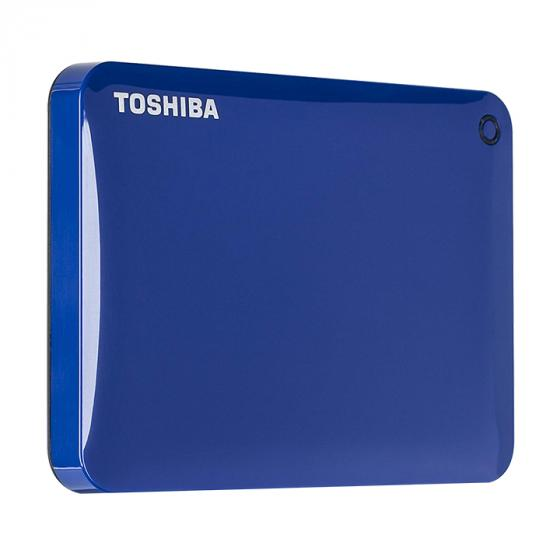 Toshiba Canvio Connect II 1TB (HDTC810XL3A1) Portable Hard Drive, Blue