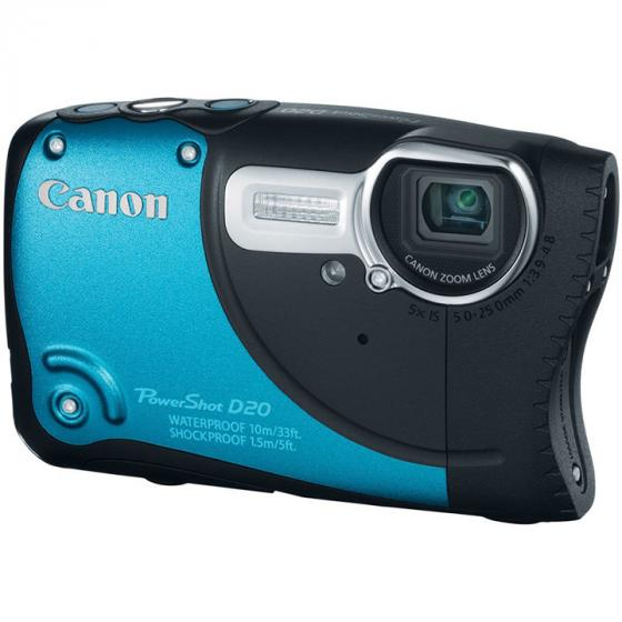 Canon PowerShot D20 Waterproof Digital Camera with 5x Image Stabilized Zoom