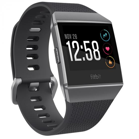 Fitbit Ionic Charcoal/Smoke Gray, One Size (S & L Bands Included)