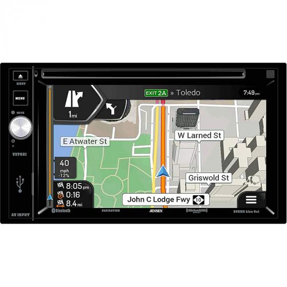 Jensen VX7021 Double-DIN A/V Navigation Receiver with Built-in Bluetooth
