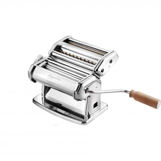 CucinaPro 150 Imperia Pasta Machine w Easy Lock Dial and Wood Grip Handle