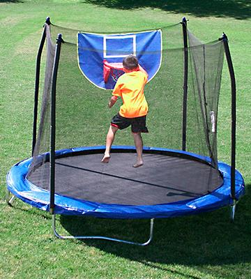 Review of Skywalker Trampolines Jump N' Dunk Trampoline with Safety Enclosure and Basketball Hoop