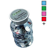 DE Digital Coin Bank Savings Jar