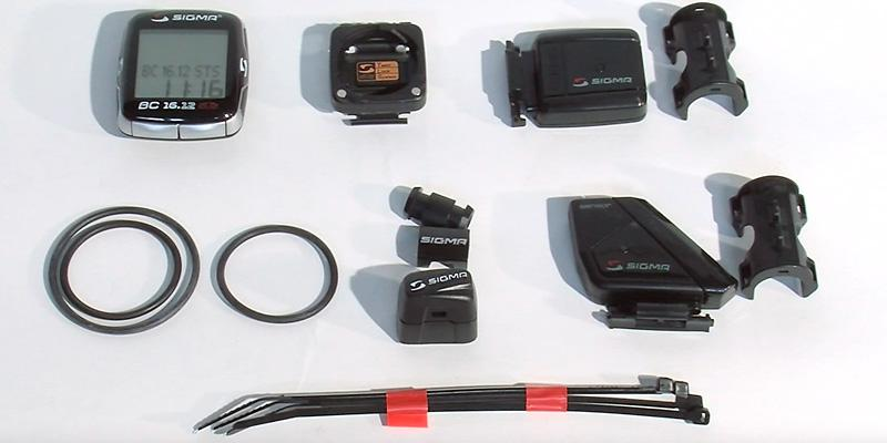 Sigma Sport BC16.12 STS Cadence Wireless Bike Computer in the use