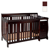 Stork Craft 4-in-1 Fixed Side Convertible Crib and Changer