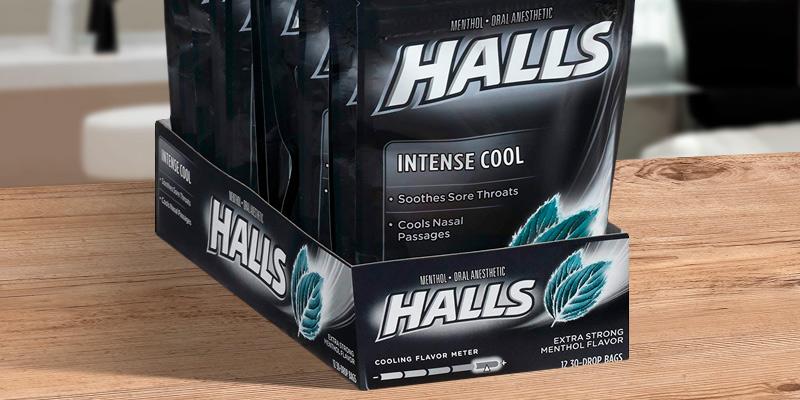 Review of Halls Intense Cool Extra Strength Cough Drops