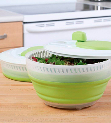 Review of Progressive 10CSS2 Collapsible Salad Spinner