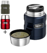 Thermos 16 oz Stainless King Food Jar with Folding Spoon