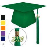 lescapsgown Unisex Adult Graduation Cap With Tassel 2018 Year