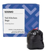 Solimo Multipurpose Drawstring Trash Bags