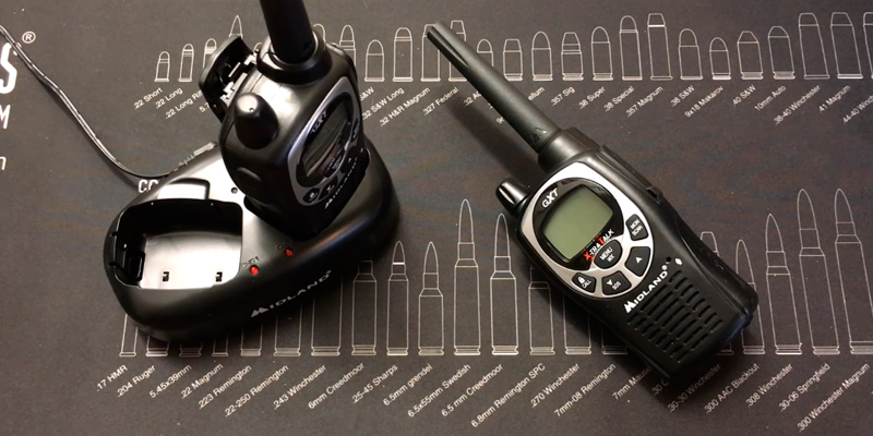 Midland GXT1000X3VP4 Waterproof Two-Way Radio in the use