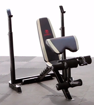 Review of Marcy MD-879 Adjustable Olympic Weight Bench Leg Developer Squat Rack
