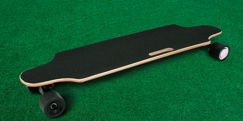 Aceshin Electric Dual Motor Longboard in the use