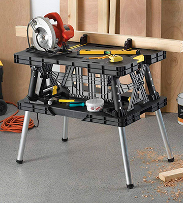 Review of Keter 197283 Folding Compact Workbench with Clamps (1000 lb Capacity)