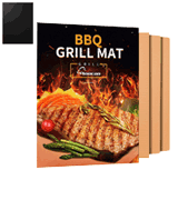 Aoocan Set of 3 Heavy Duty Copper Grill Mat