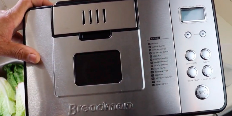 Breadman BK1050S 2 lb Professional Bread Maker in the use