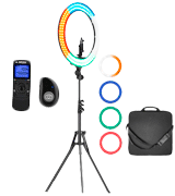IVISII 19 Ring Light Kit with Remote Controller