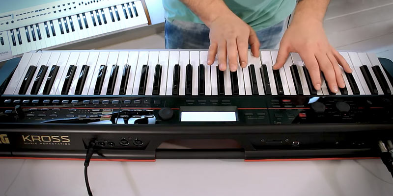Korg KROSS-88 Key Black Keyboard Production Station application