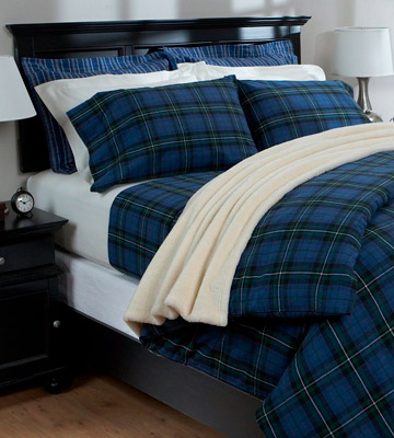 Review of Pinzon by Amazon Blackwatch Plaid Flannel Bed Sheet Set