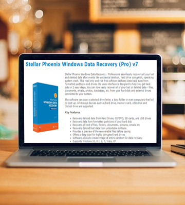 Review of Stellar Phoenix Windows Data Recovery Professional