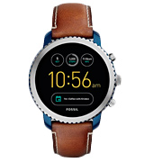 Fossil Q (FTW4004) Men's Gen 3 Explorist Stainless Steel and Leather Smartwatch