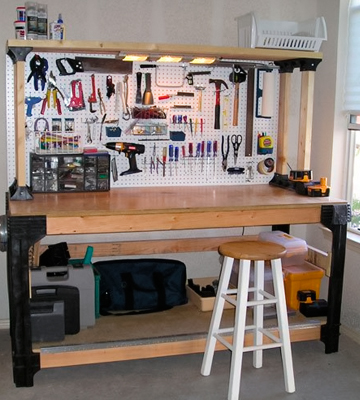 Review of 2x4 Basics 90164 Workbench and Shelving Storage System