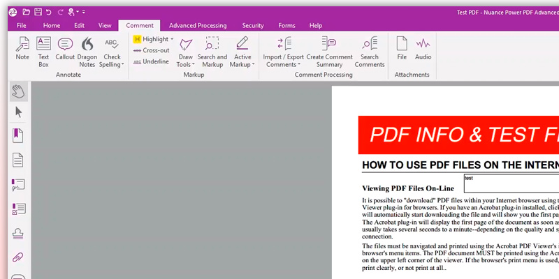 Nuance Power PDF Advanced, v.3 in the use