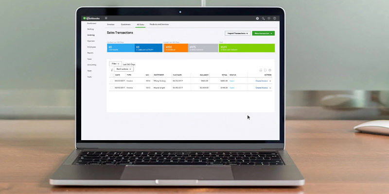 Intuit QuickBooks Online in the use