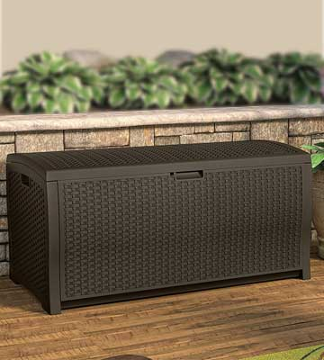 Review of Suncast DBW9200 Wicker Resin Deck Box