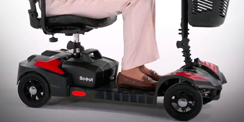Drive Medical Compact Travel 4 Wheel in the use