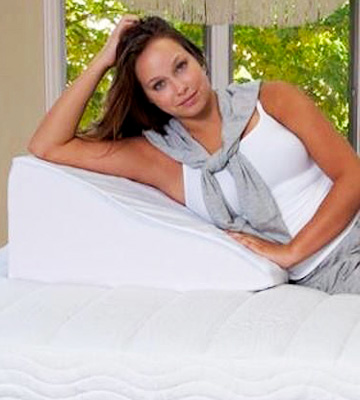 review of intevision foam wedge bed pillow