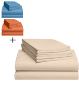 LuxClub Deep Pockets Silky Soft Sheet Set
