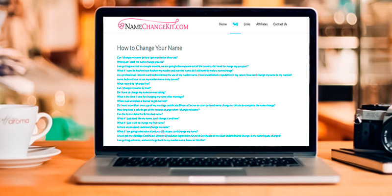 NameChangeKit Legal Name Change Kit in the use