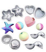 MelonBoat Silver-5 Metal Bath Bomb Molds
