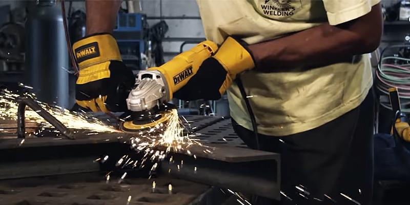 welding grinder. review of dewalt dwe402 angle grinder welding