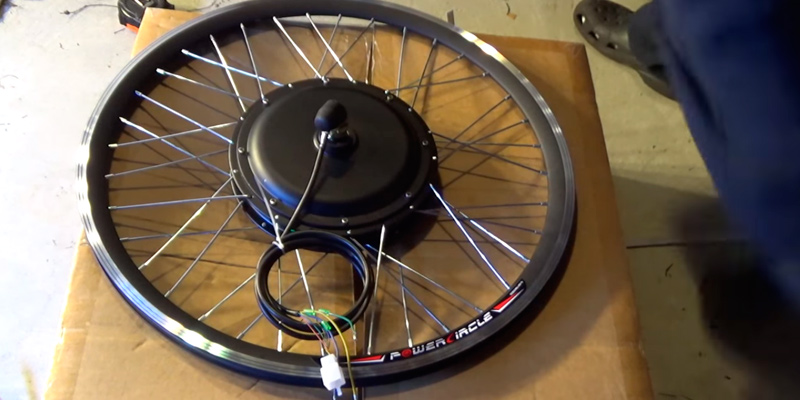 "AW Kit PAS System 26""x1.75"" Front Wheel 48V 1000W 470RPM in the use"