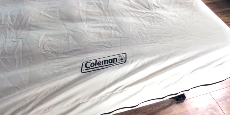 Coleman twin Airbed Portable Cot in the use