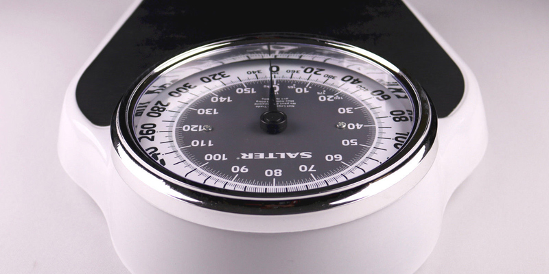 Salter Professional Mechanical Dial Scale in the use