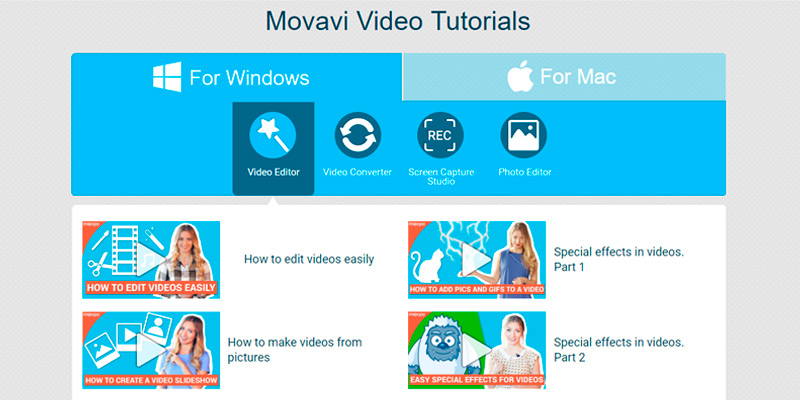 Movavi Video Converter for Windows in the use