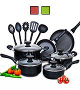 Cook N Home 15-Piece Non Stick Cookware Set