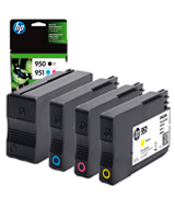 HP 950 & 951 4 Ink Cartridges | Black, Cyan, Magenta, Yellow