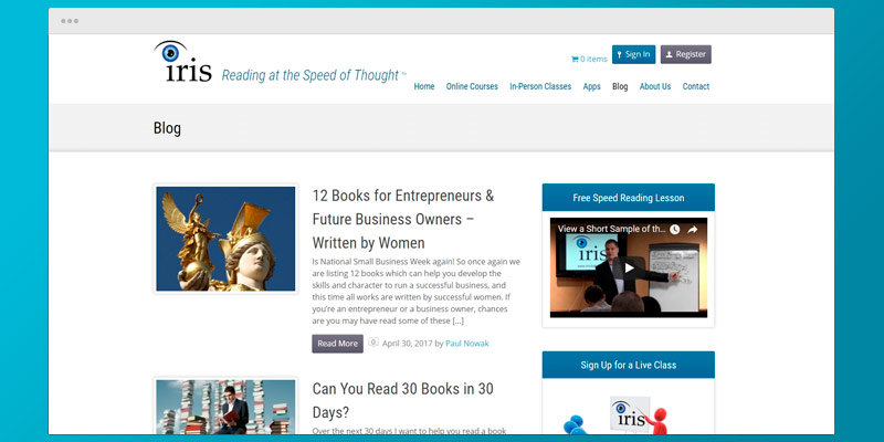 Detailed review of IRIS Speed Reading Training Course