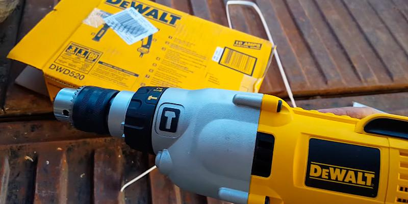 DEWALT DWD520K Pistol Grip Hammerdrill Kit in the use