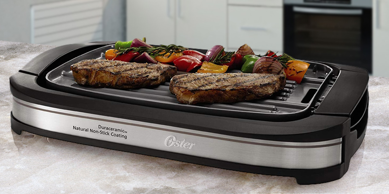Detailed review of Oster CKSTGR3007-ECO DuraCeramic Reversible Grill and Griddle
