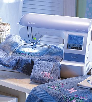 Review of Brother PE770 Embroidery-only machine