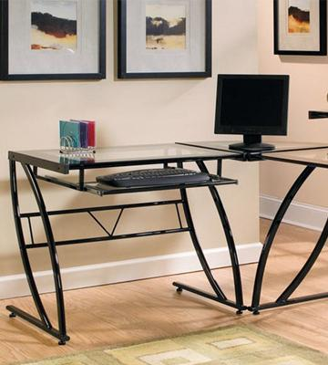 Review of Z-Line Belaire Glass L-Shaped Computer Desk